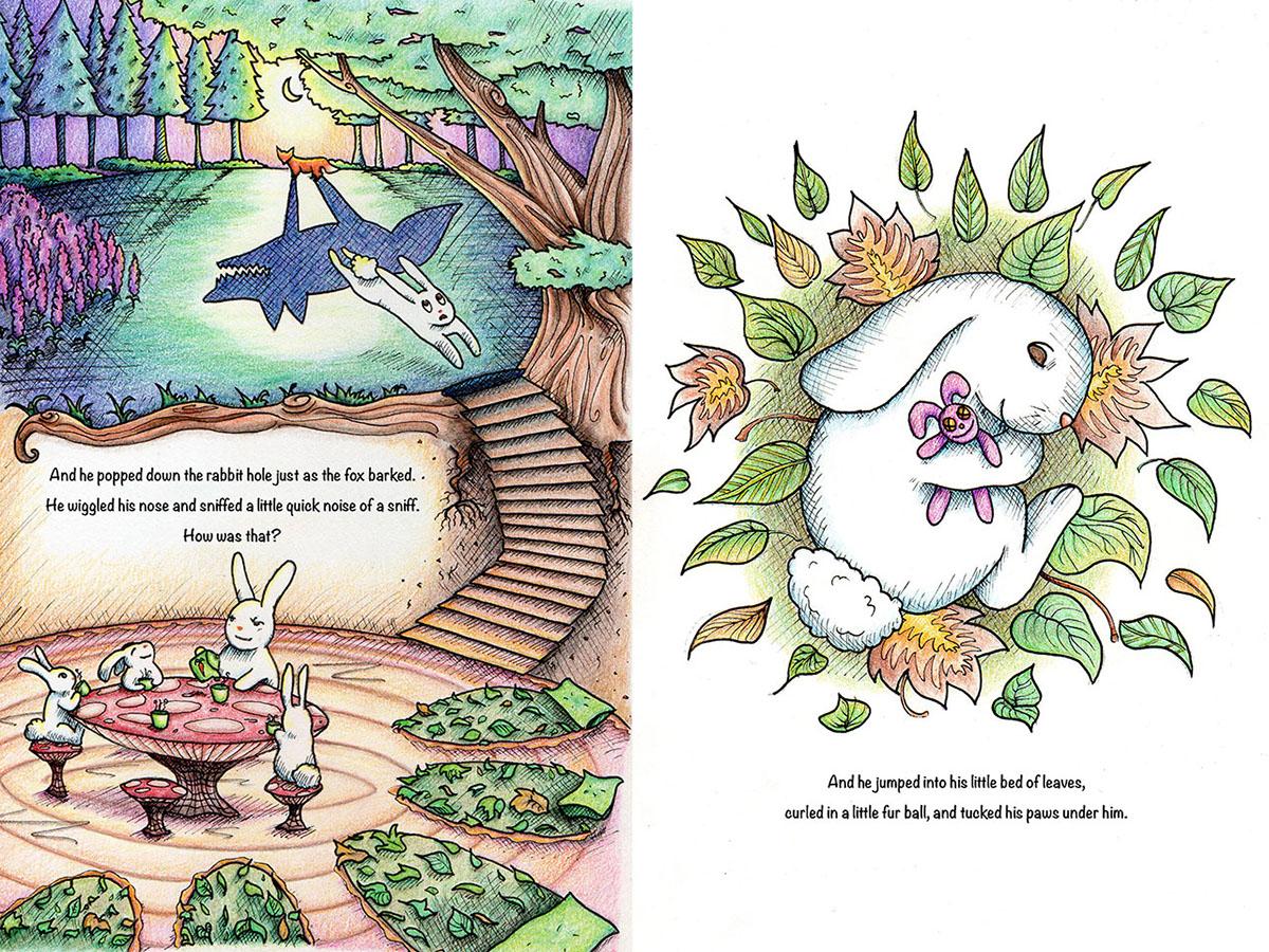 children's book illustration colored pencil ink