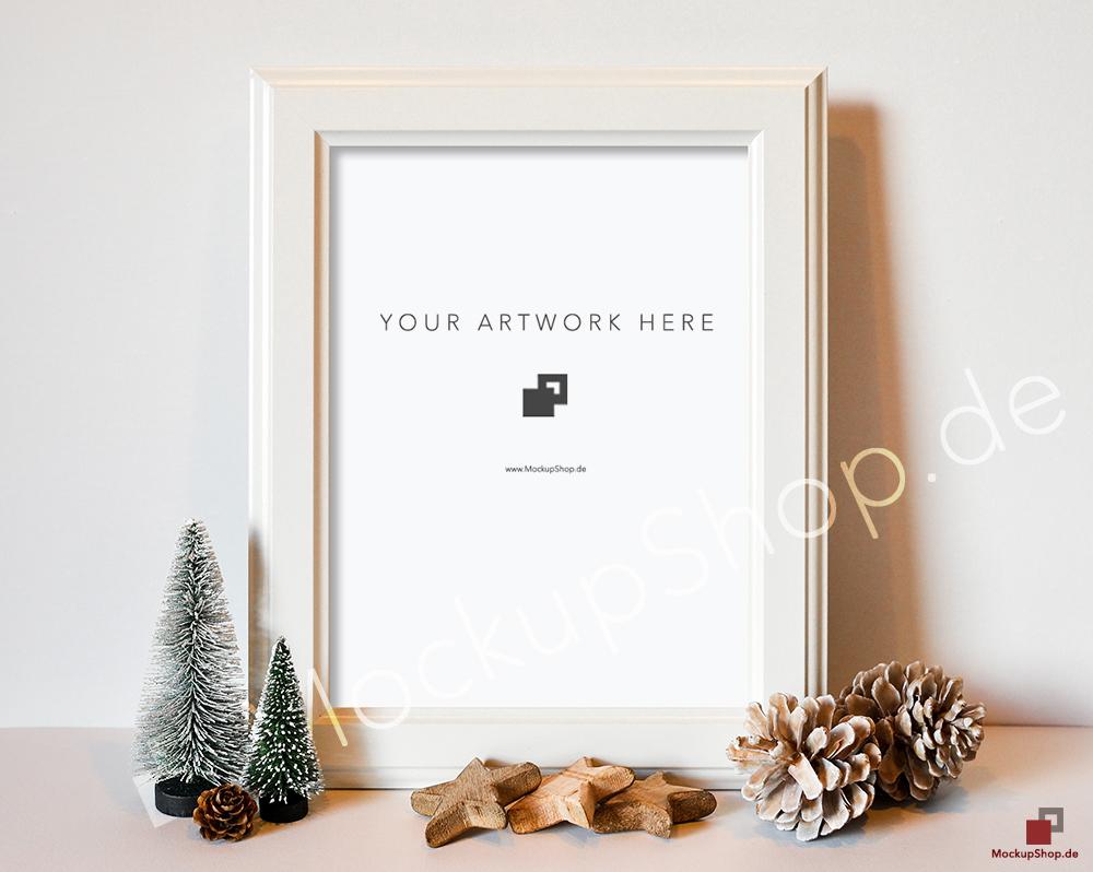 Amazing Christmas Frame Mockup on Behance