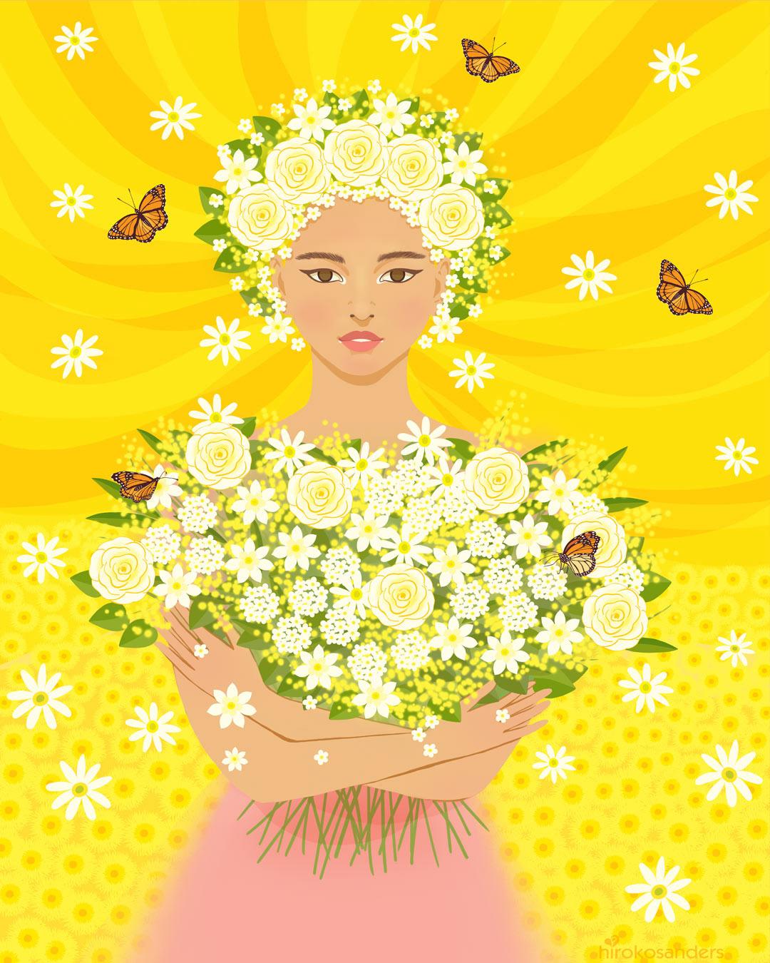 spring flower girl
