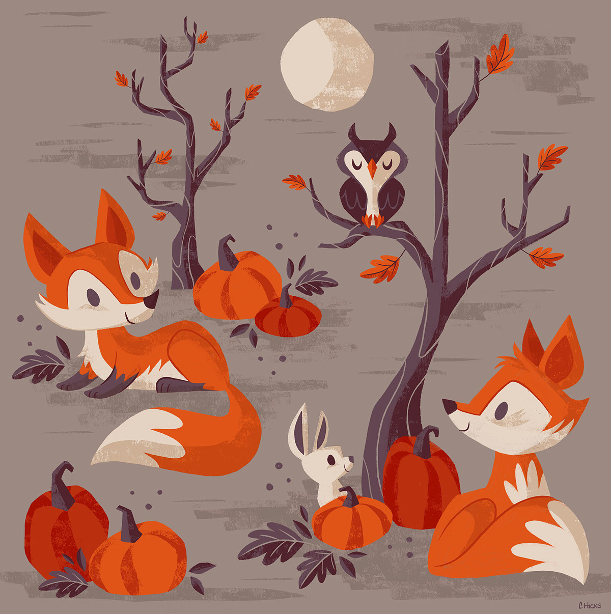 Fall Foxes On Behance