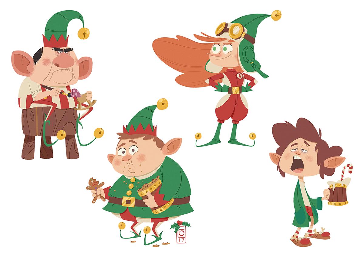 Santa\'s Elves on Behance