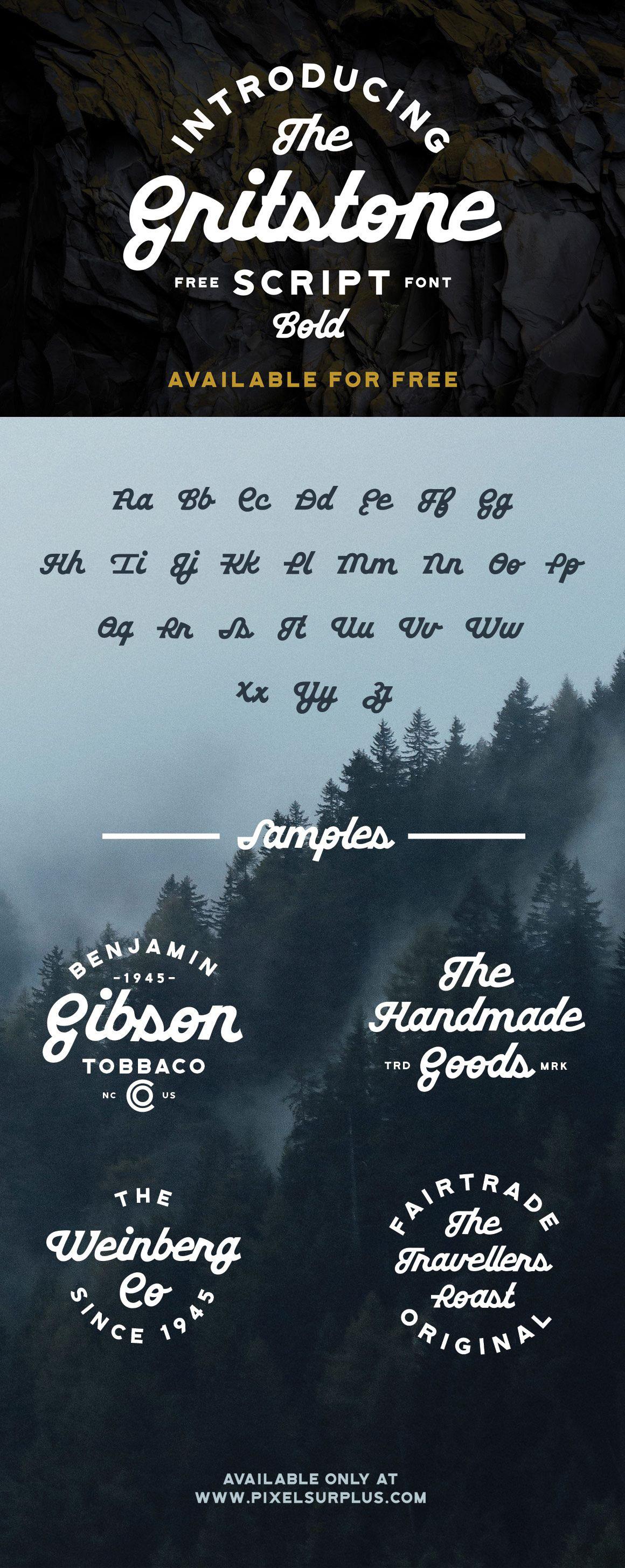 Free font free fonts freebie Script bold Typeface Display font free vintage