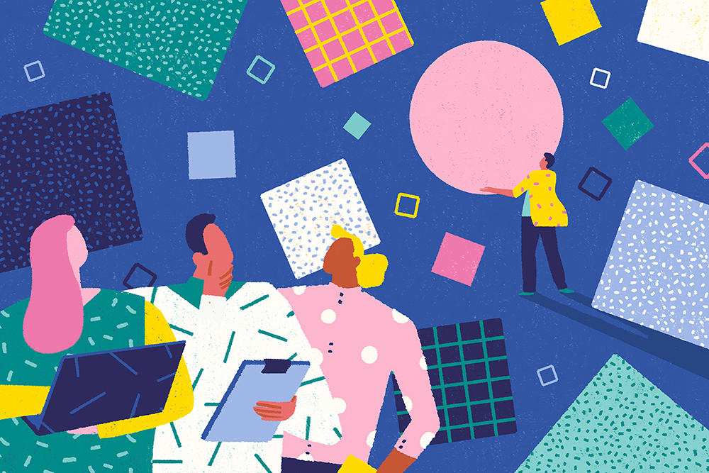 Work  pattern animation  texture colours geometry editorial art