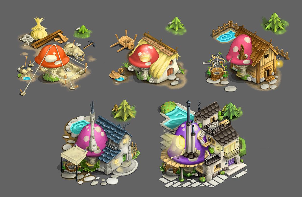Fantasy game, art modules. 2013.