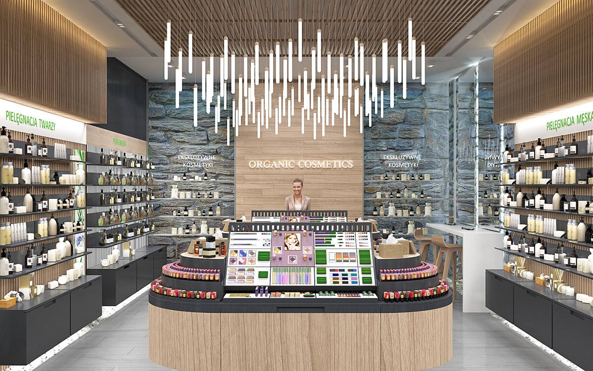Organic Cosmetics Store Interior Design On Behance