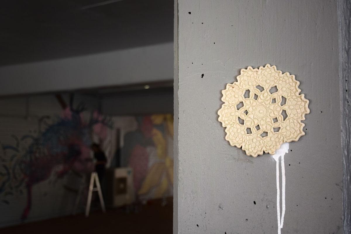NeSpoon stencil spray clay ceramic perth pilbara Australia Pottery