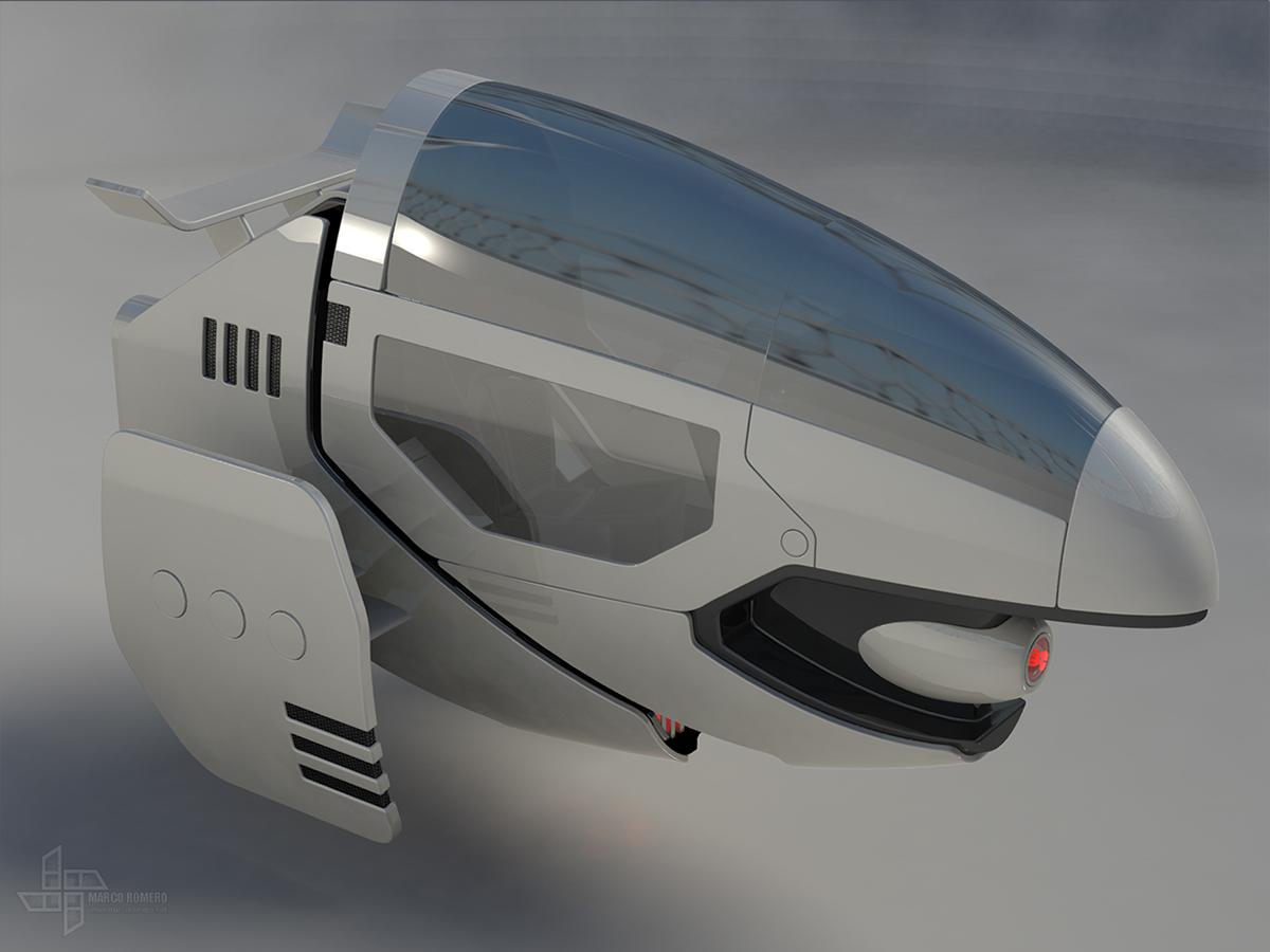 futuristic hover bike