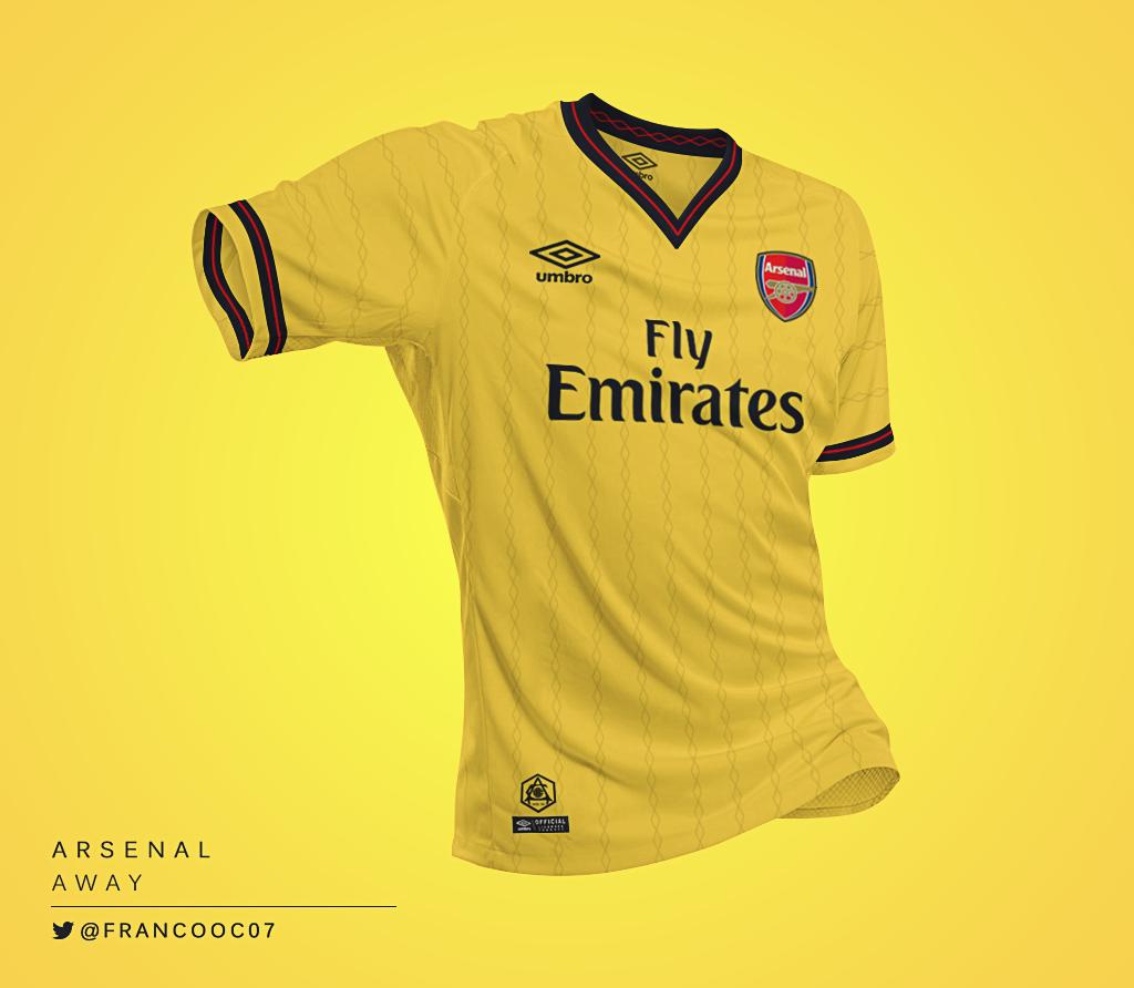 Talisman & Co. | Umbro Arsenal Away Kit Concept by Franco Carabajal | Soccer Hats