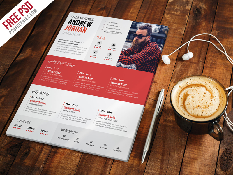 Free psd creative resume cv template psd on behance download free creative resume cv template psd if you are looking for job this free creative resume cv template psd can help you a lot yelopaper Gallery