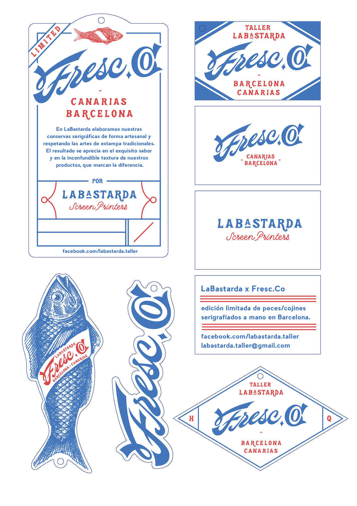 shoot labastarda fish handmade silkscreen silkprint barcelona canarias