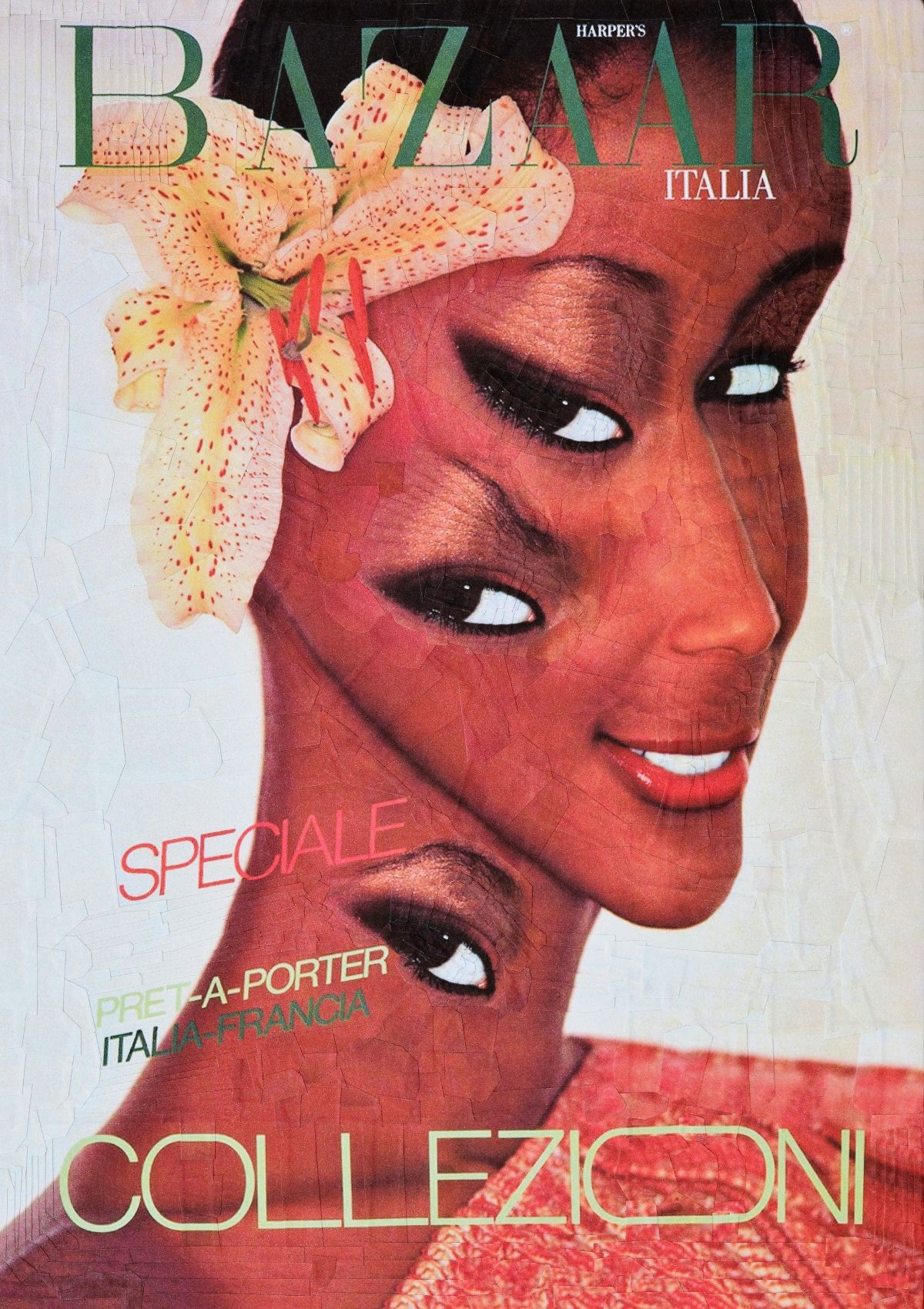 Fashion  collage paper cover design Cover Art manipulation Naomi Campbell cindy crawford Beverly Johnson