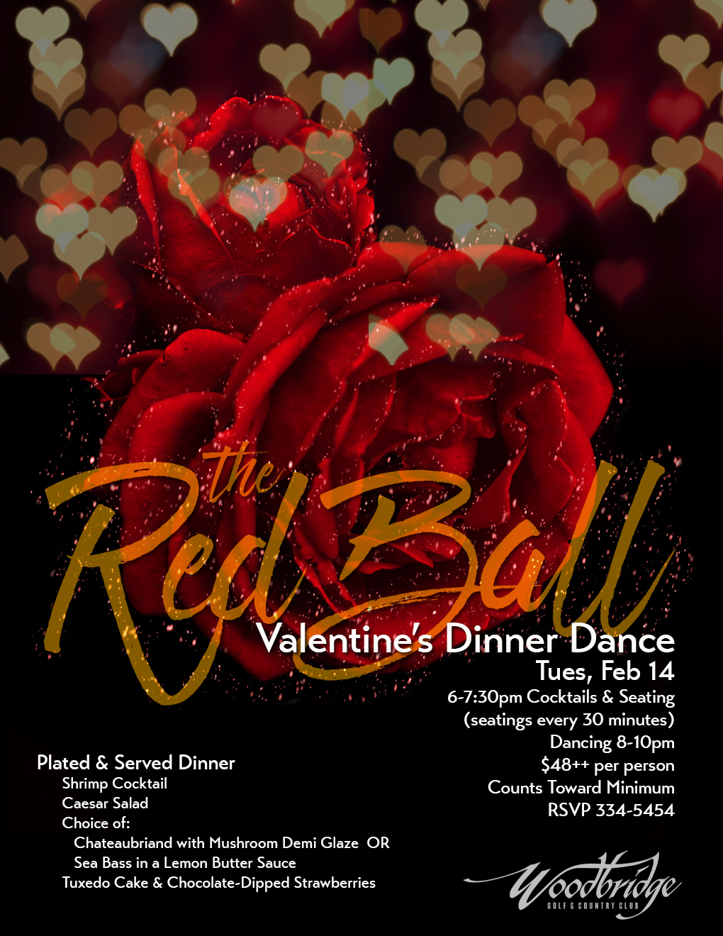 Valentine S Dinner Dance Poster On Behance