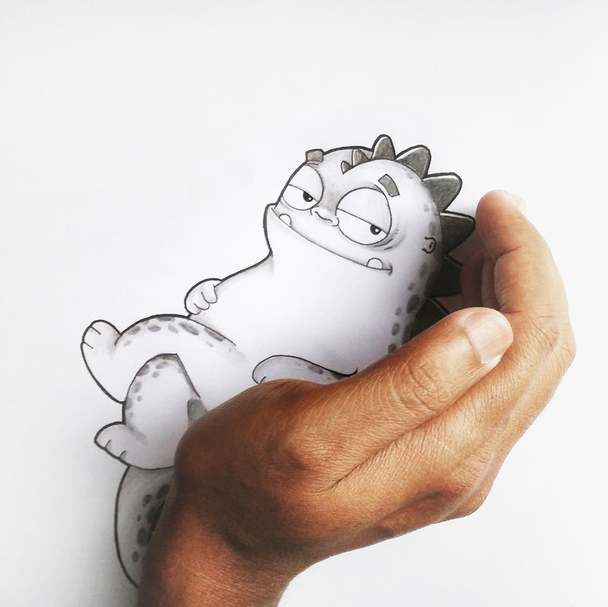 drogo dragon Dinosaur cartoon Pet funny interact Character characterdesign ILLUSTRATION