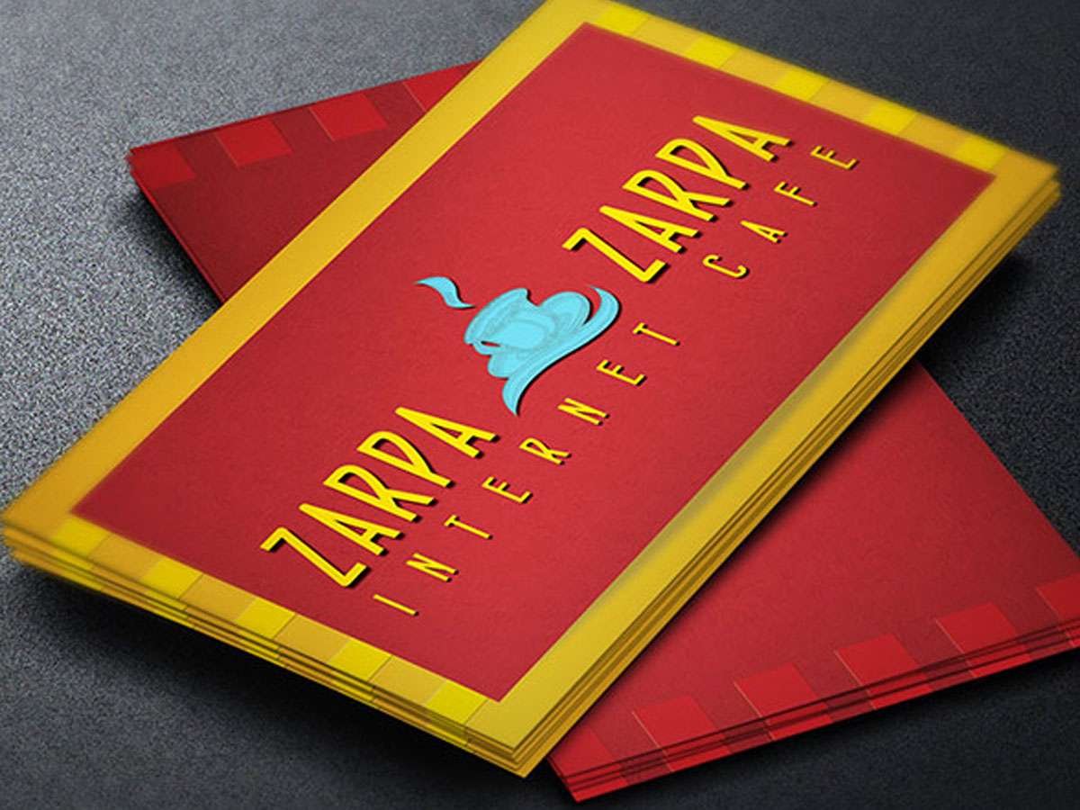 Internet Cafe Business Card Template on Behance