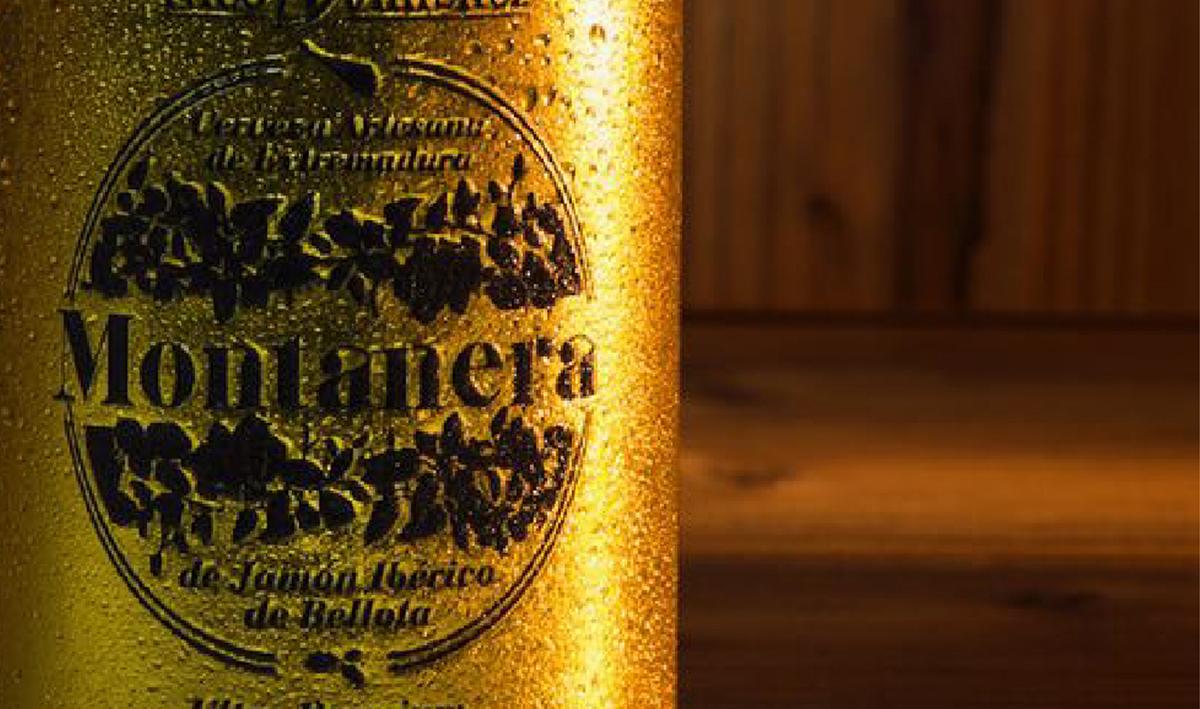 cerveza artesana etiqueta oro gold diseño gráfico Label desing spain Extremadura