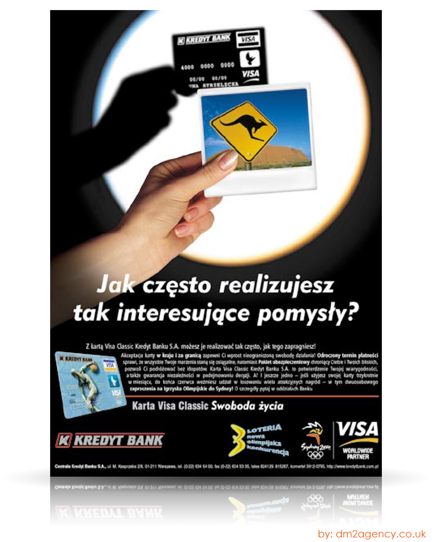 Brand Kredyt Bank Project Karta Visa Classic On Behance