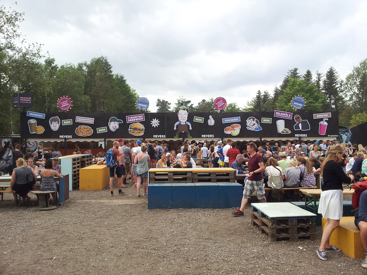 sign Food  meyers deli Roskilde Festival