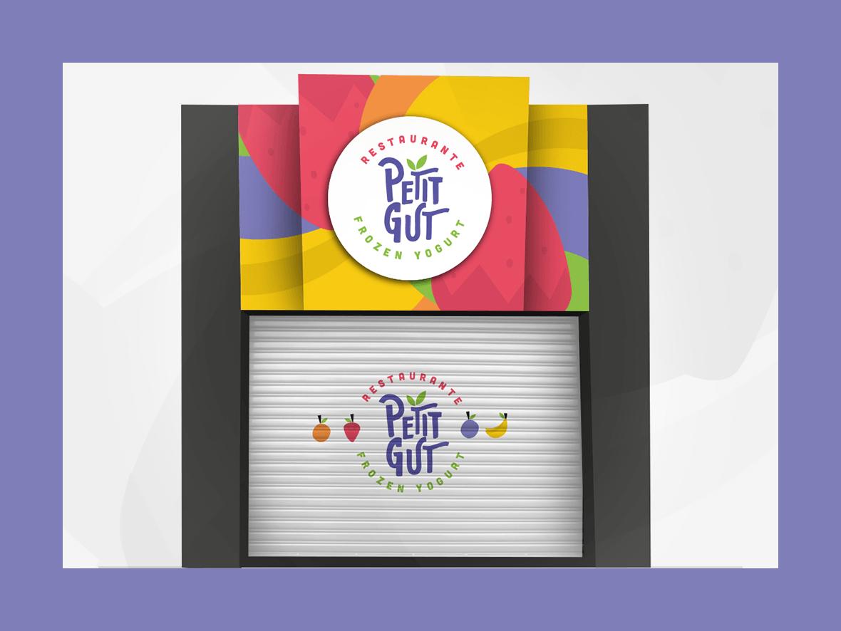 comunicação visual identidade visual logo Petit Gout