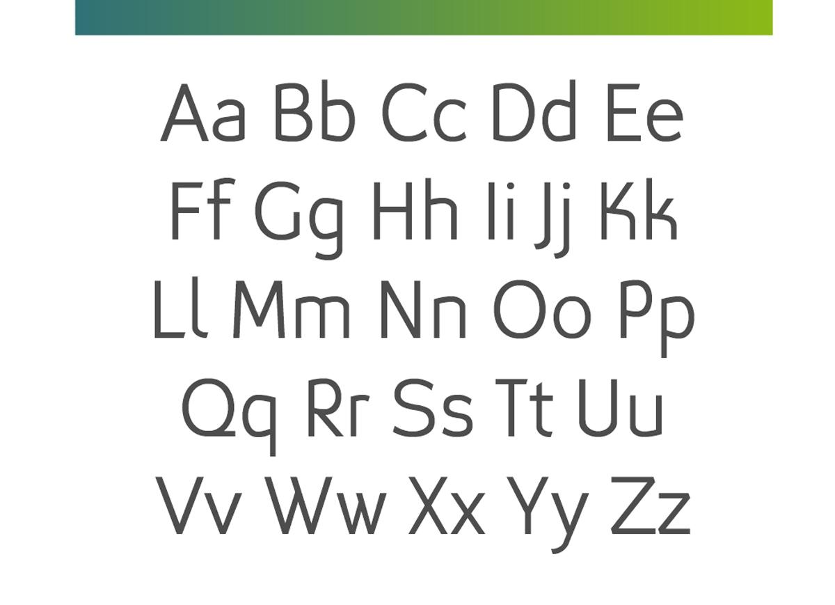 Typeface sans-serif typedesign