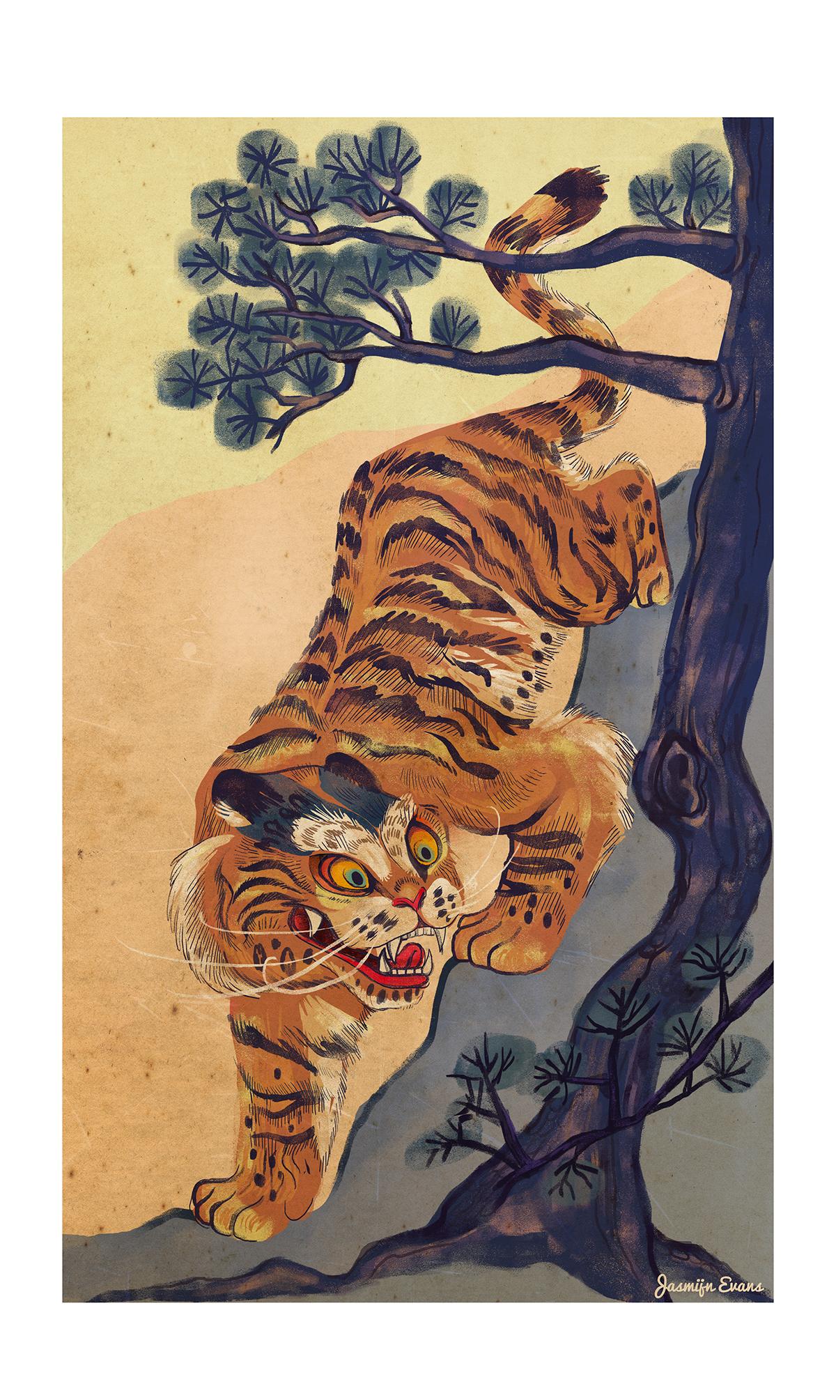 Korean Tiger On Wacom Gallery