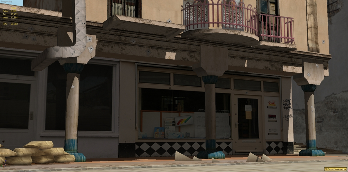roventa alexandru ruver design 3D 3d max Low Poly game environment vertex paint
