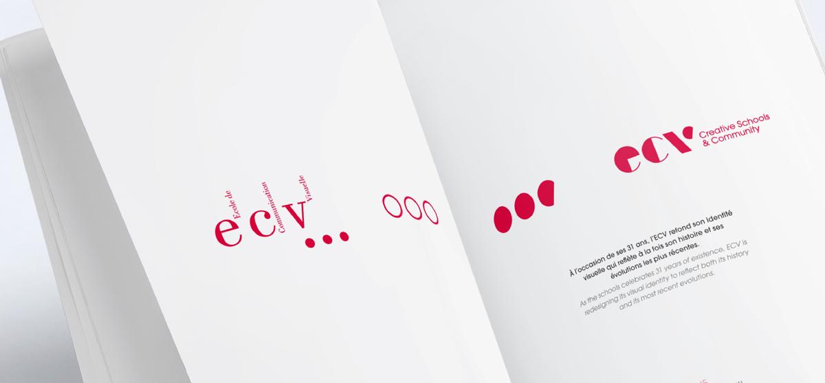 ecv creative school design Paris rebranding fine art shapes colors community