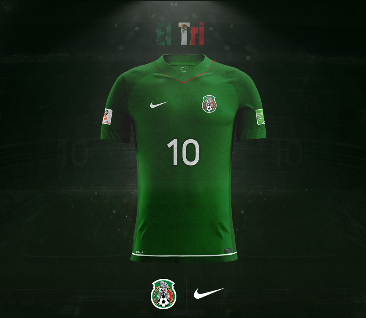 51d2e2db8 Mexico Home Kit Nike Concept on Behance