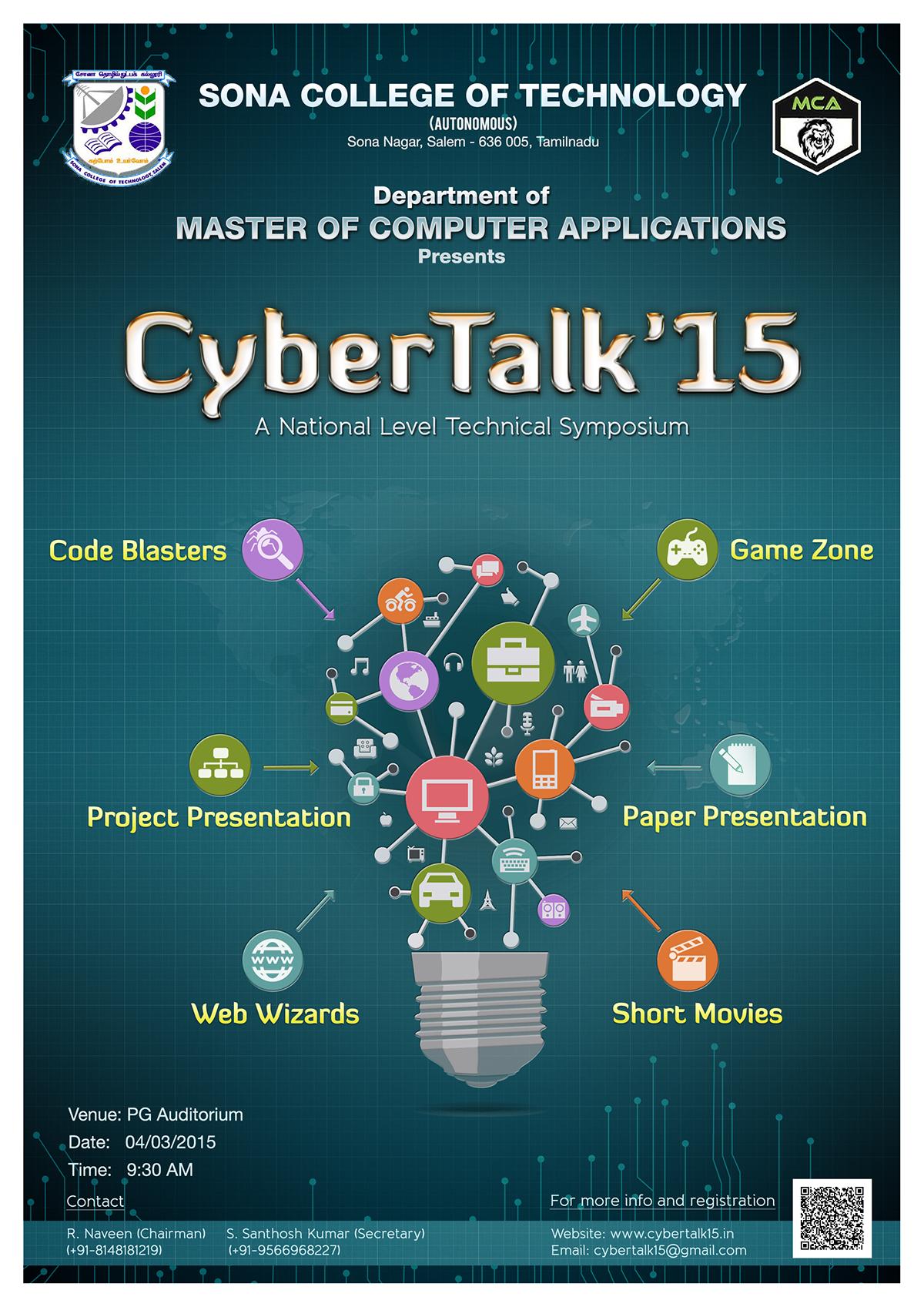 symposium Exhibition  sona college Cybertalk salem india