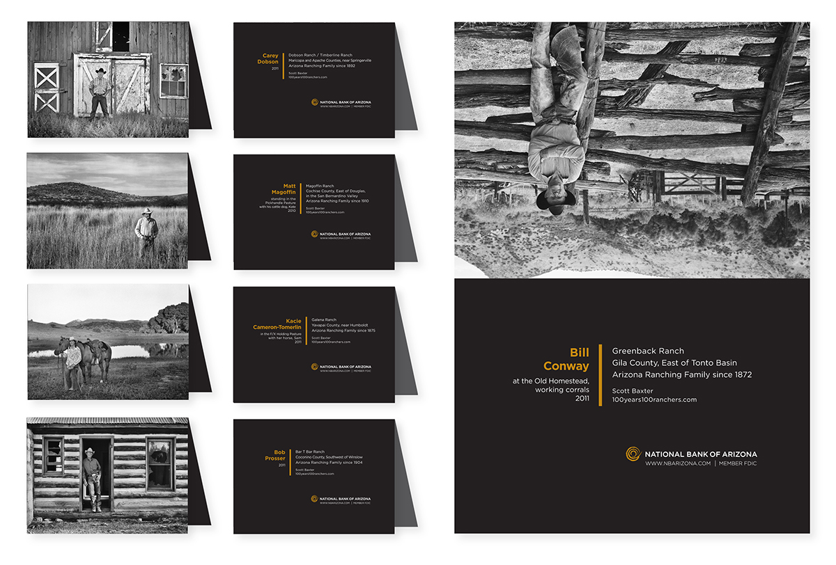 Nbaz 100 Years 100 Ranchers Greeting Cards On Behance