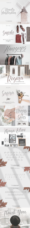beauty amsterdam brand branding  Clothing font fonts handwritten Invitation Script wedding