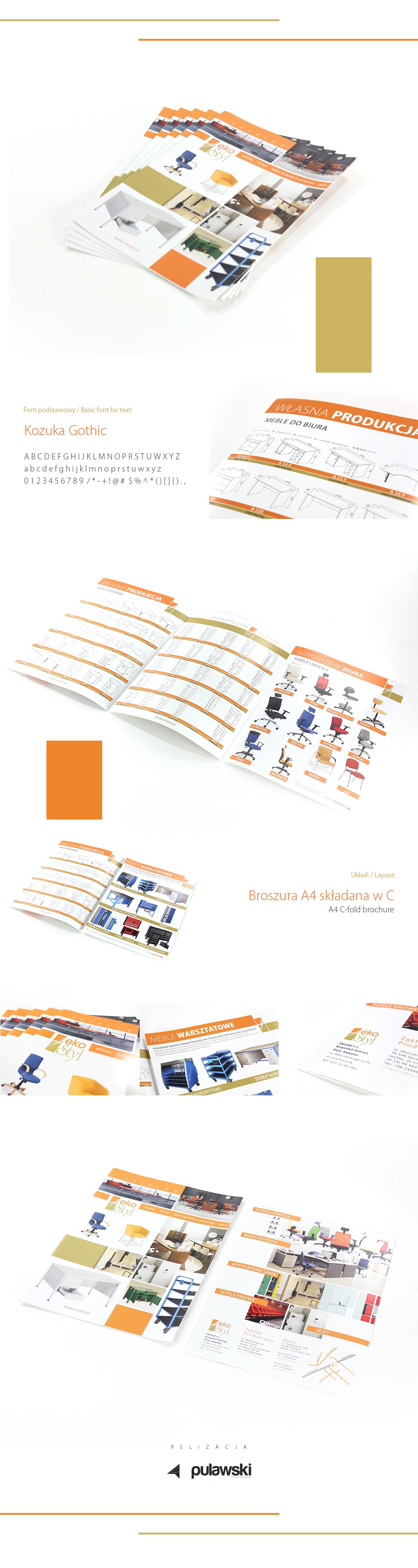 katalog catalog broszura brochure gold orange