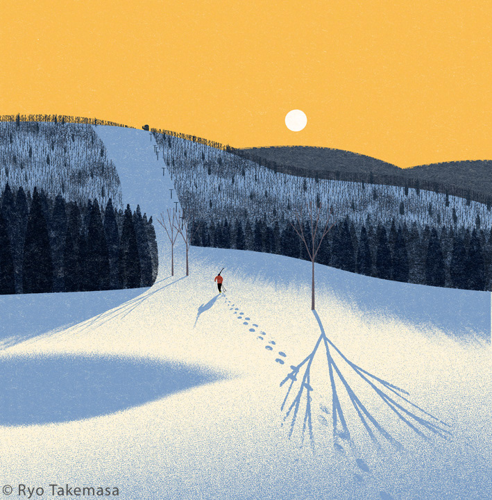 Landscape winter snow skiing ski area Nature mountain ski slope MORNING Sunrise