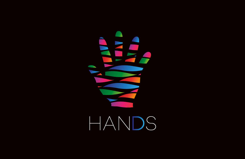 Hands logo + business cards on Behance
