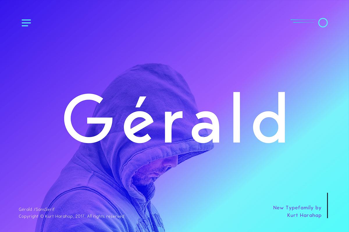 Gerald Sans Geometric Fon