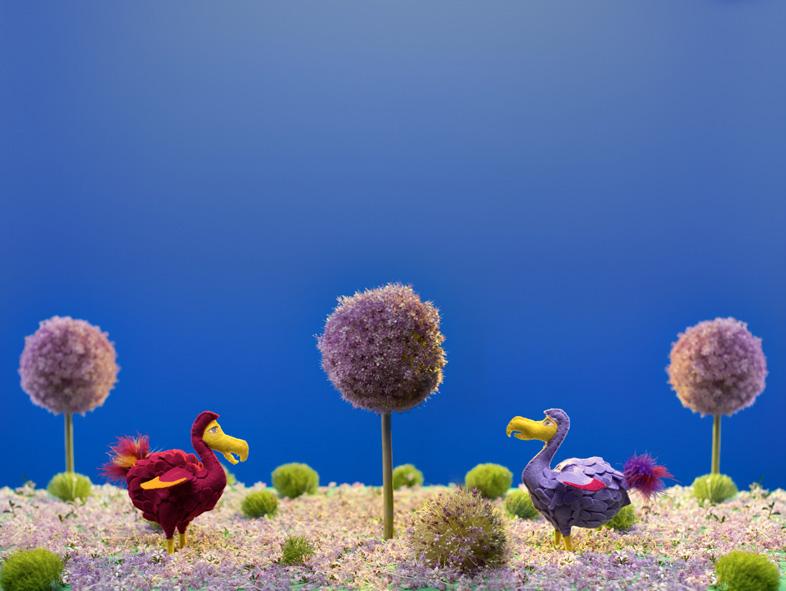 dodo felt Miniature model bird story Photoplay
