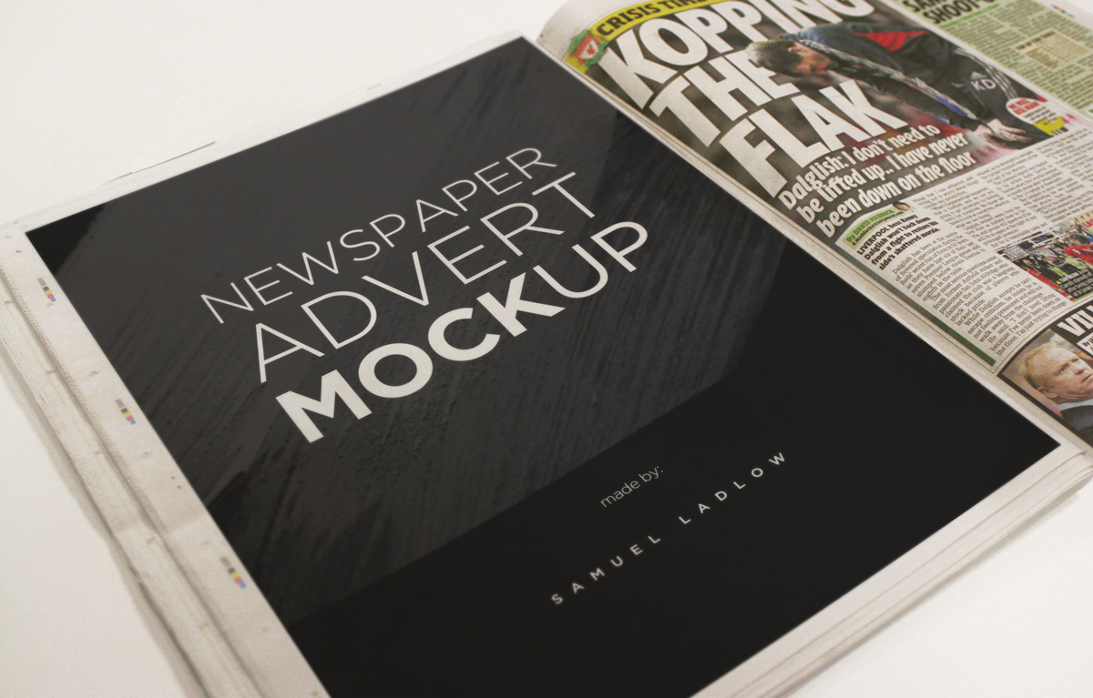 Simply click the smart object and insert your advert design