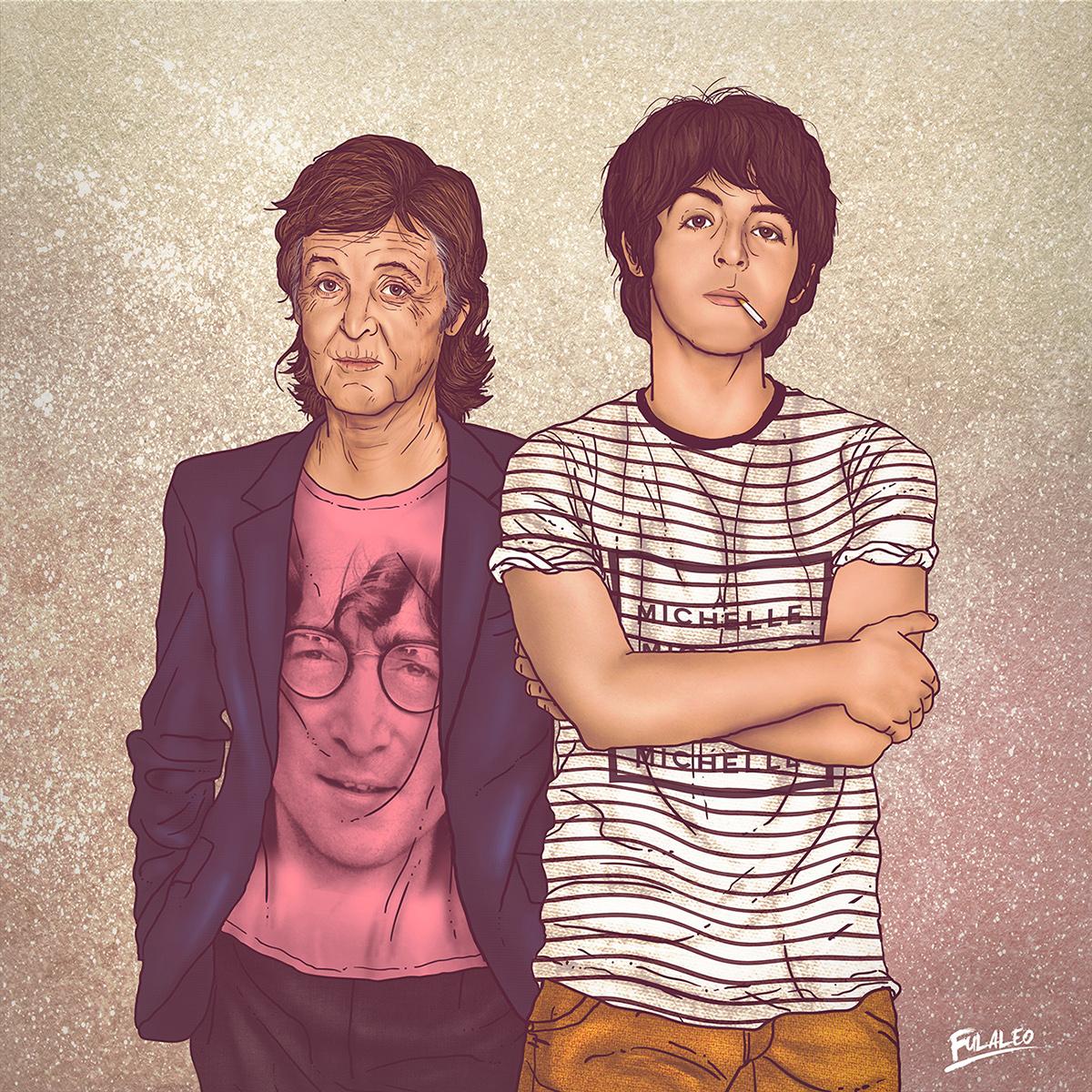 """""""Eu e meu outro eu"""", o antes e o depois de famosos em desenho"""