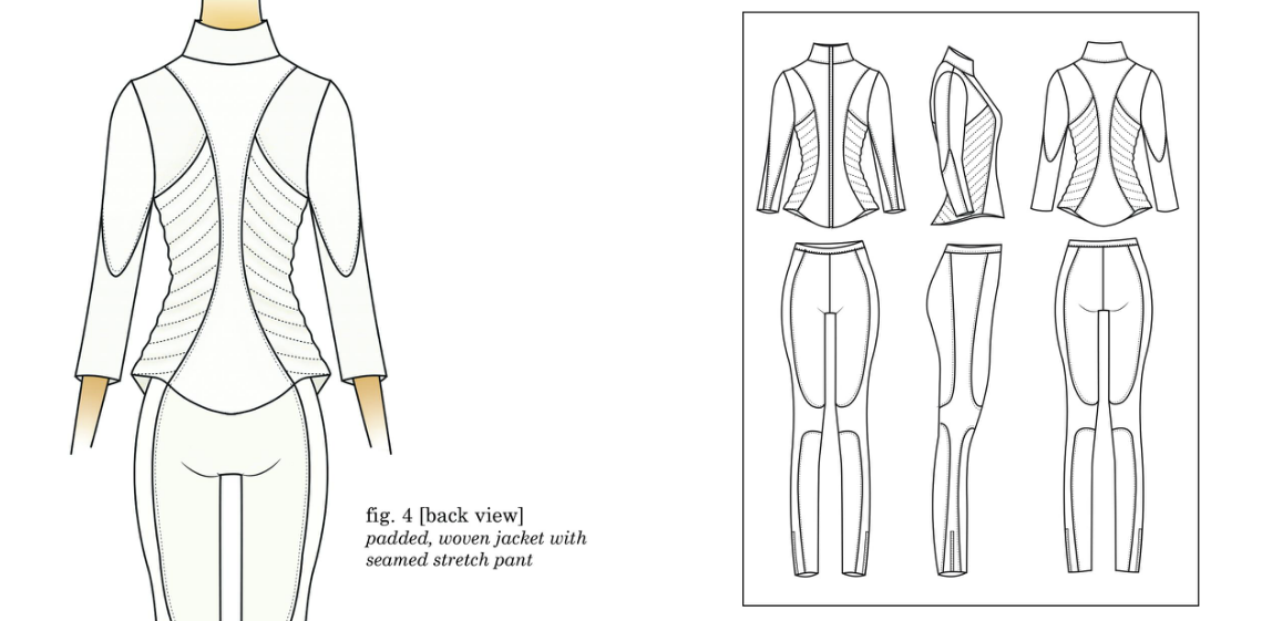 anatomy muscles Muscular system wool tailoring jumpsuit jacket ivory puma risd