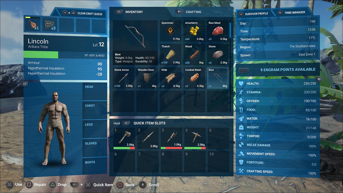 Ark  Survival Evolved Ui Redesign On Behance