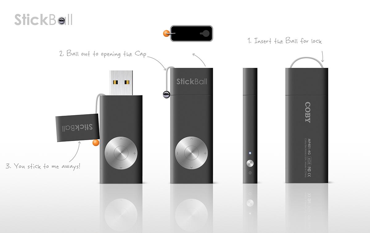 usb stick mp3 player on behance. Black Bedroom Furniture Sets. Home Design Ideas