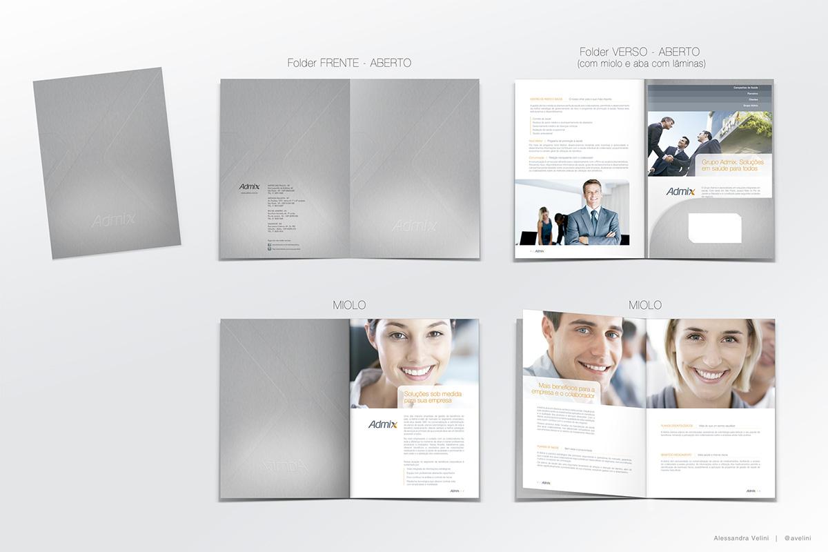 Folder institutional design gráfico projeto gráfico
