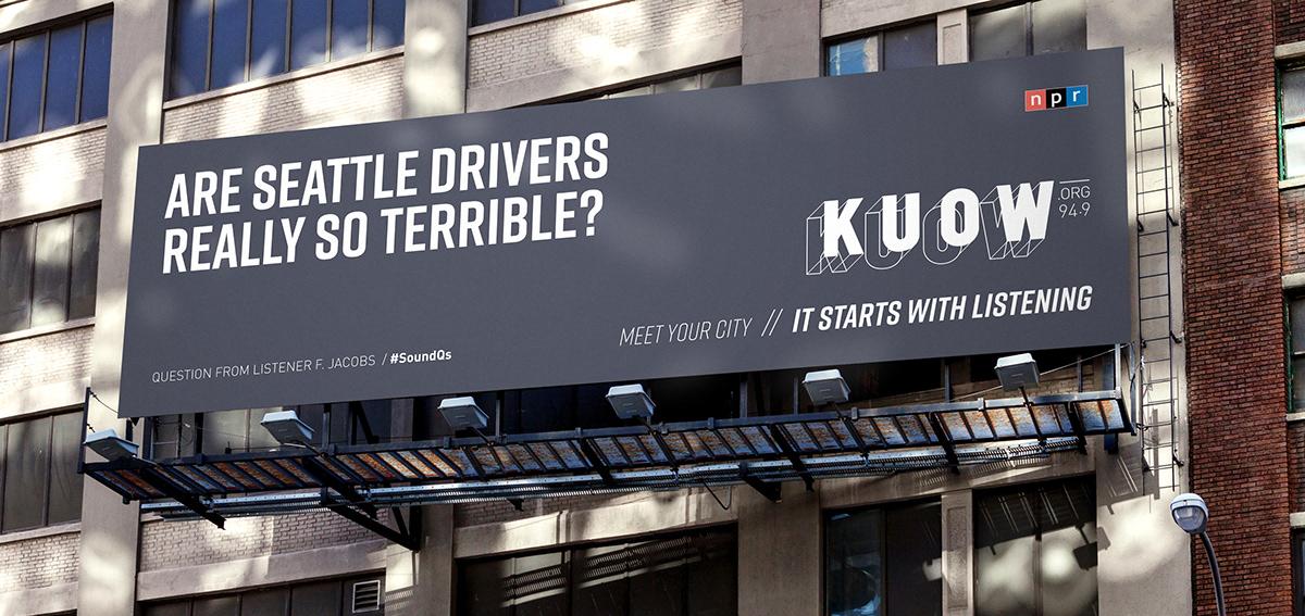 Advertising  engagement design seattle public radio