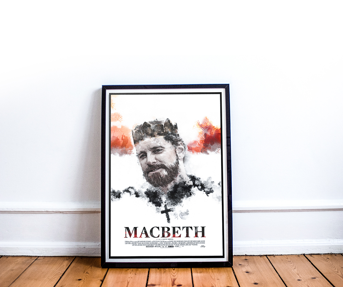 Macbeth digital painting photoshop Shakespear Micheal Fassbender brushes textures king drama paint color franko schiermeyer art