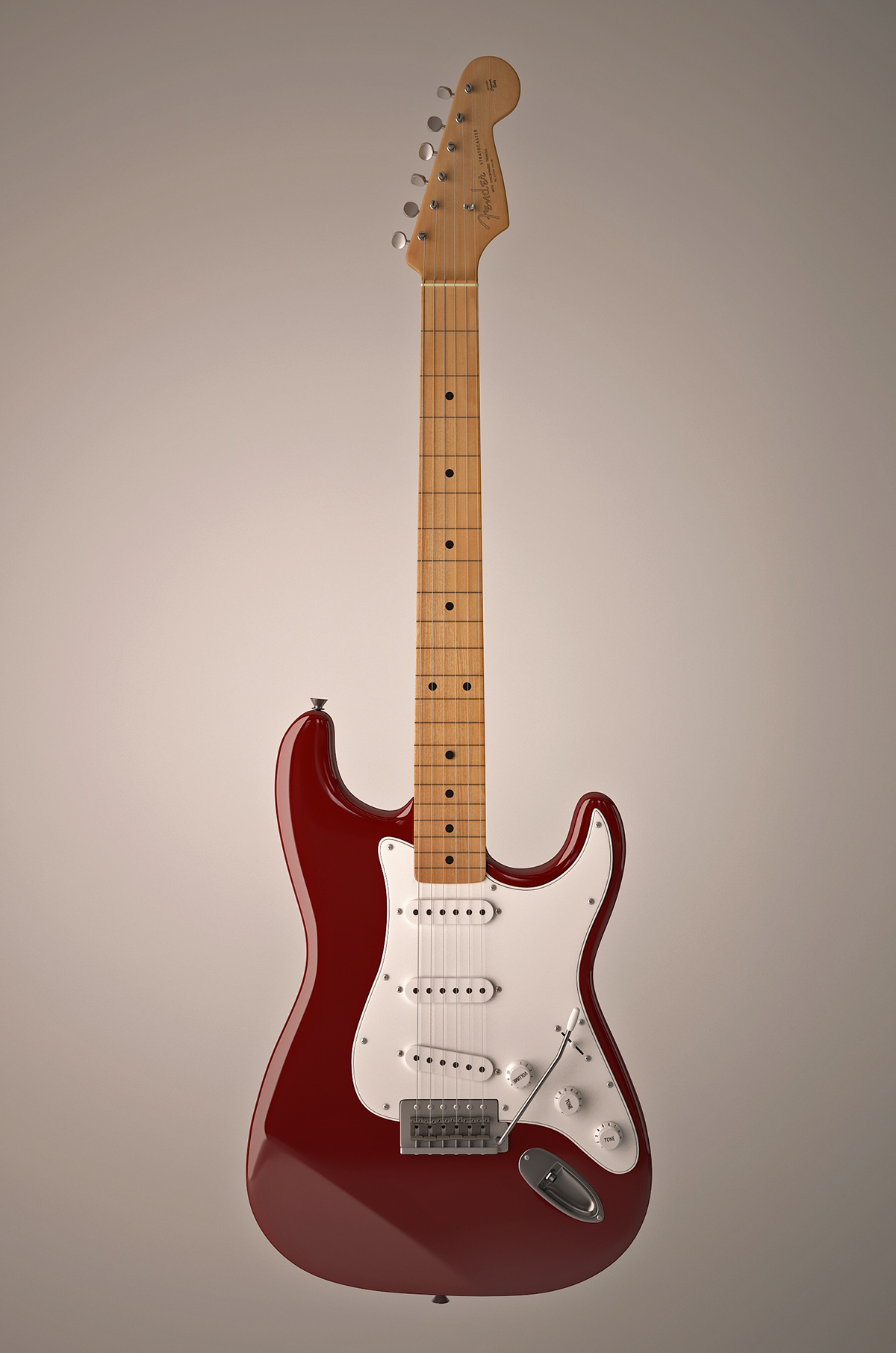 Fender Stratocaster FREE 3D model download on Behance