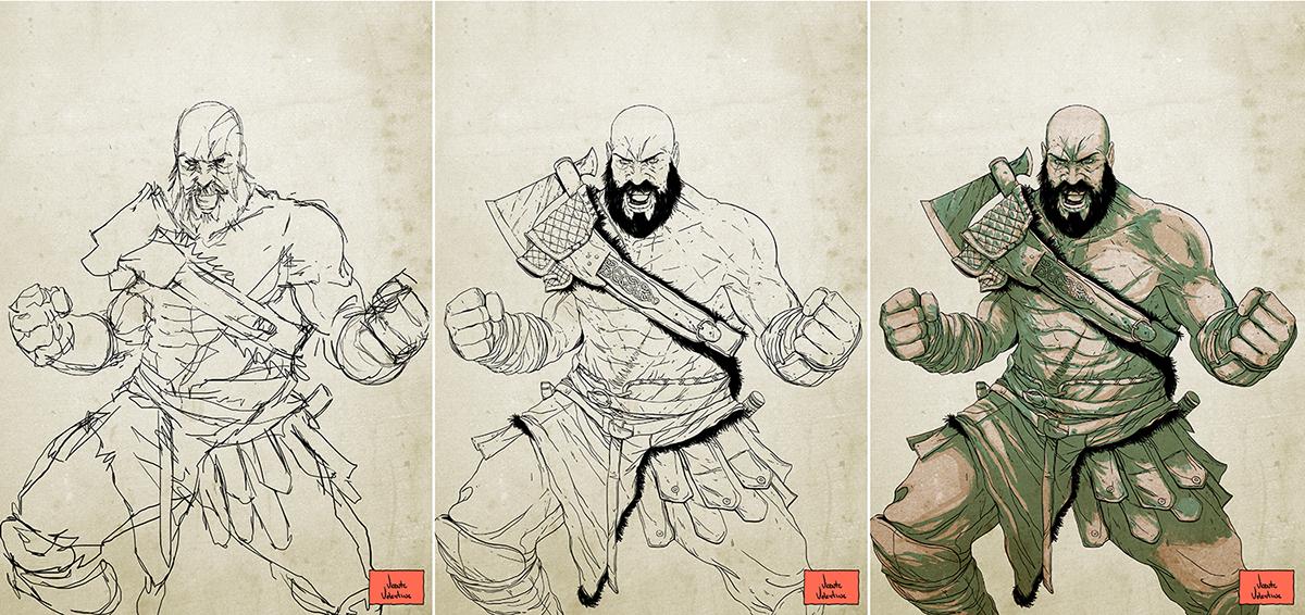 Kratos God Of War On Behance