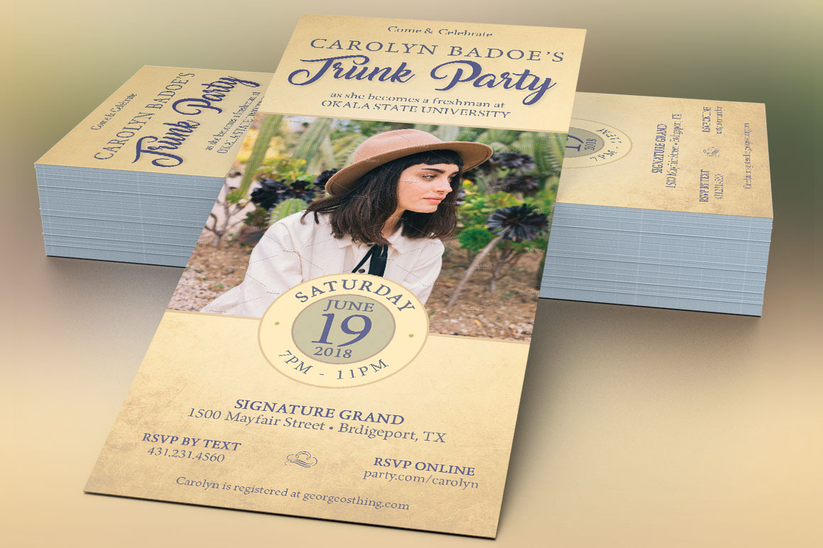 Retro Trunk Party Flyer Template on Behance
