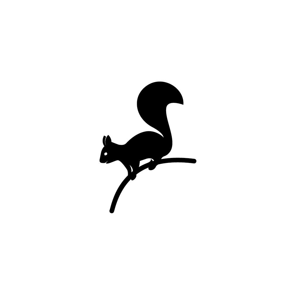 squirrel animal cute monochrome art