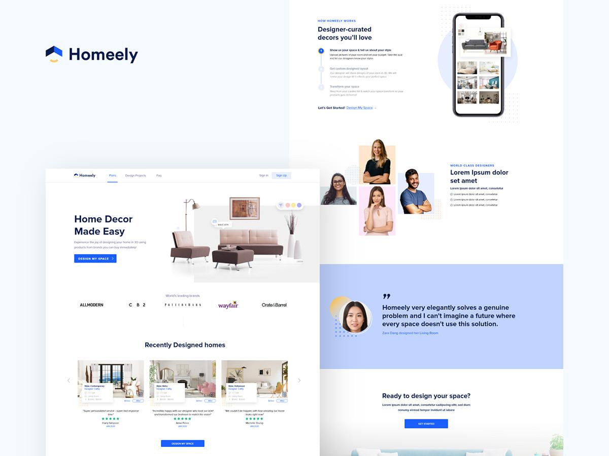 Homeely homepage