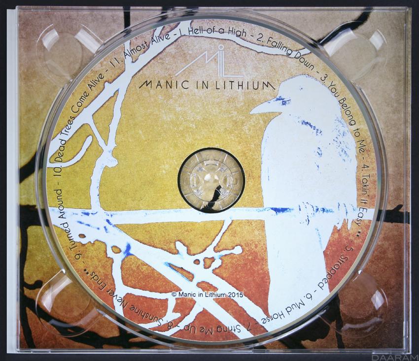 Manic In Lithium mil Olivier Daaram jollant CD cover Cover Art design album cover
