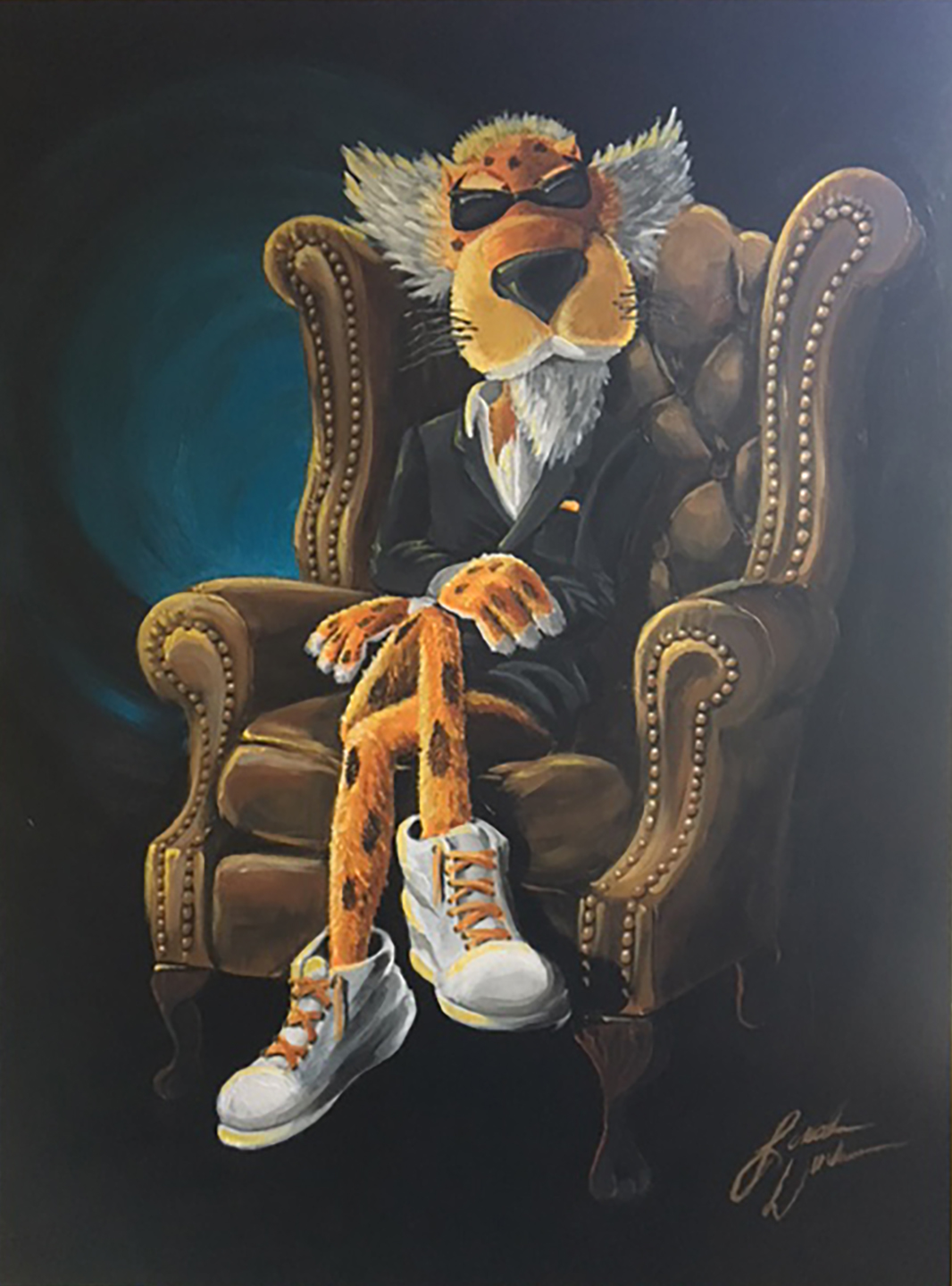 Cheetos Chester Cheetah Traditional Acrylic Painting On Behance
